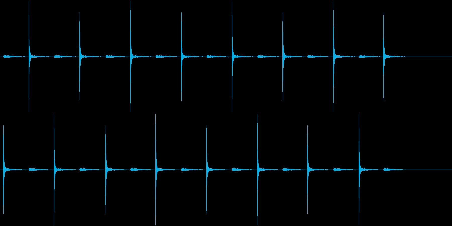 古時計・足音・靴音(ループ可能)の再生済みの波形