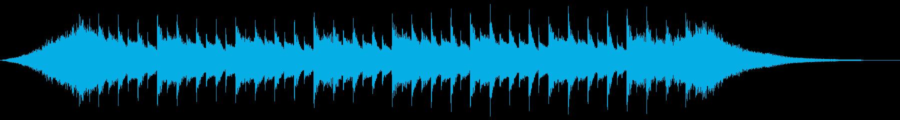 感動的なジングル、CMの再生済みの波形