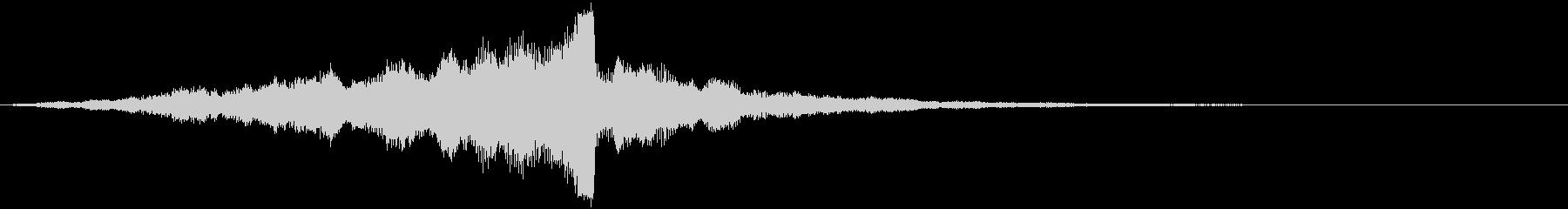 CINEMATICな音で始まる映像の未再生の波形