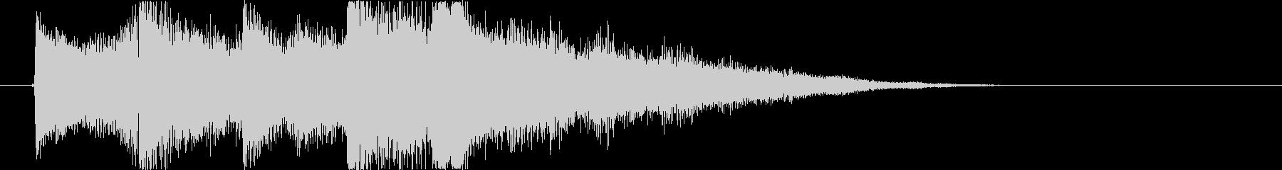 ピアノとシンセでキラキラしたサウンドロゴの未再生の波形