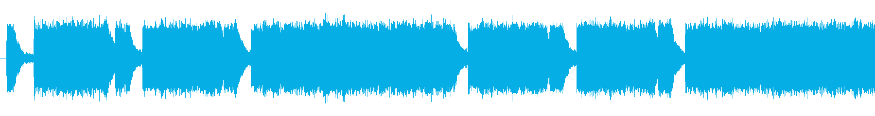 ダークな雰囲気のあるループシンセの再生済みの波形
