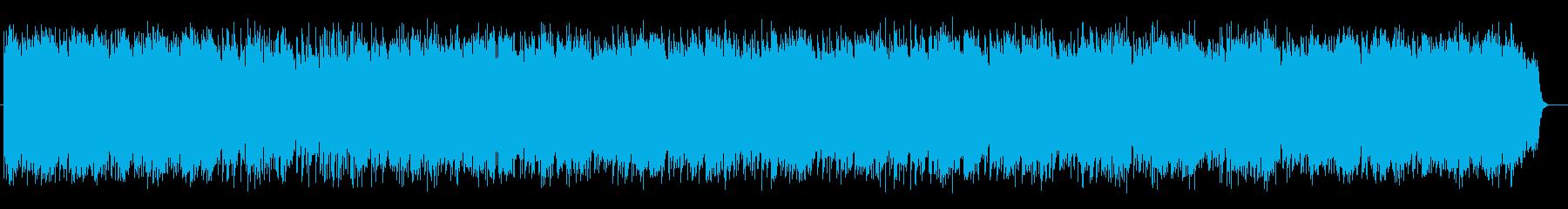 艶やかな和風シンセサイザー弦楽器サウンドの再生済みの波形