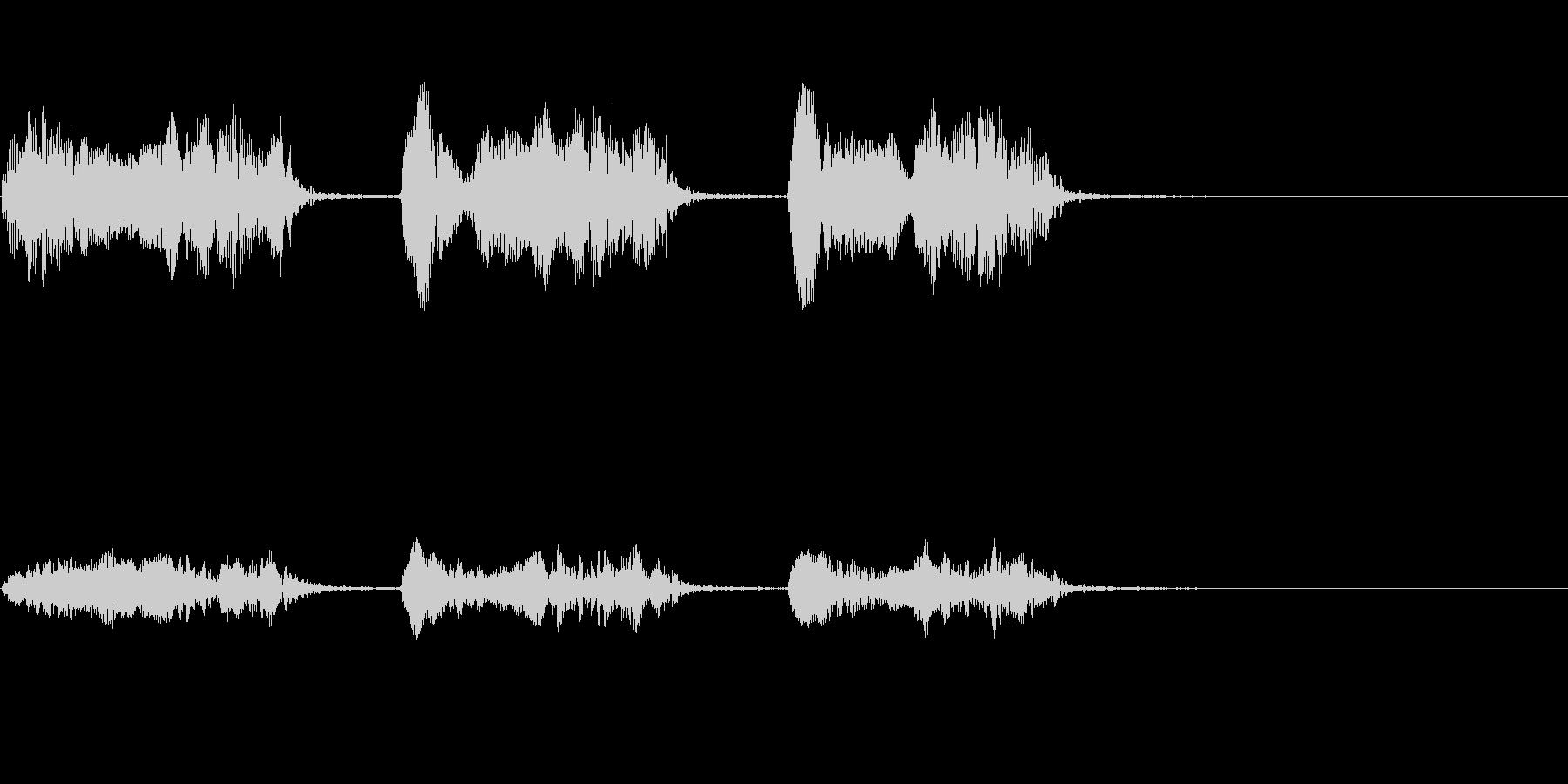 【生録音】カラスの鳴く音2 カーカーカーの未再生の波形