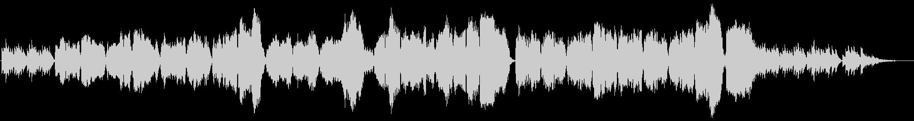 琴と尺八によるバラードの未再生の波形
