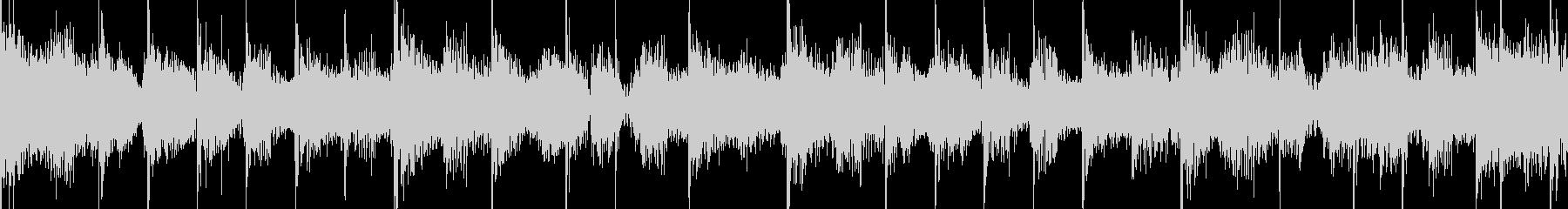 ふんわりとした雰囲気のロック・ループの未再生の波形