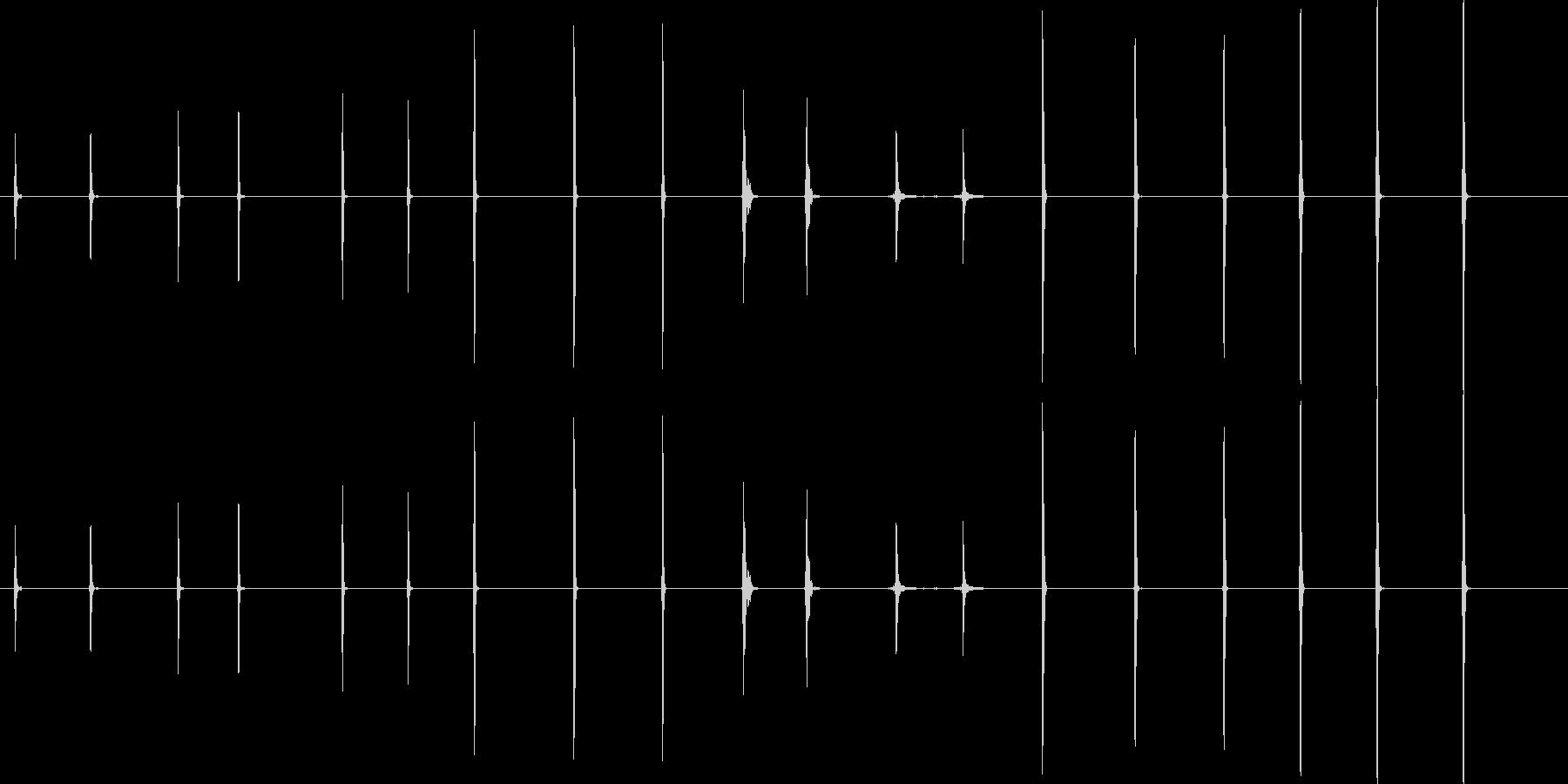ライトヒット-19バージョンの未再生の波形