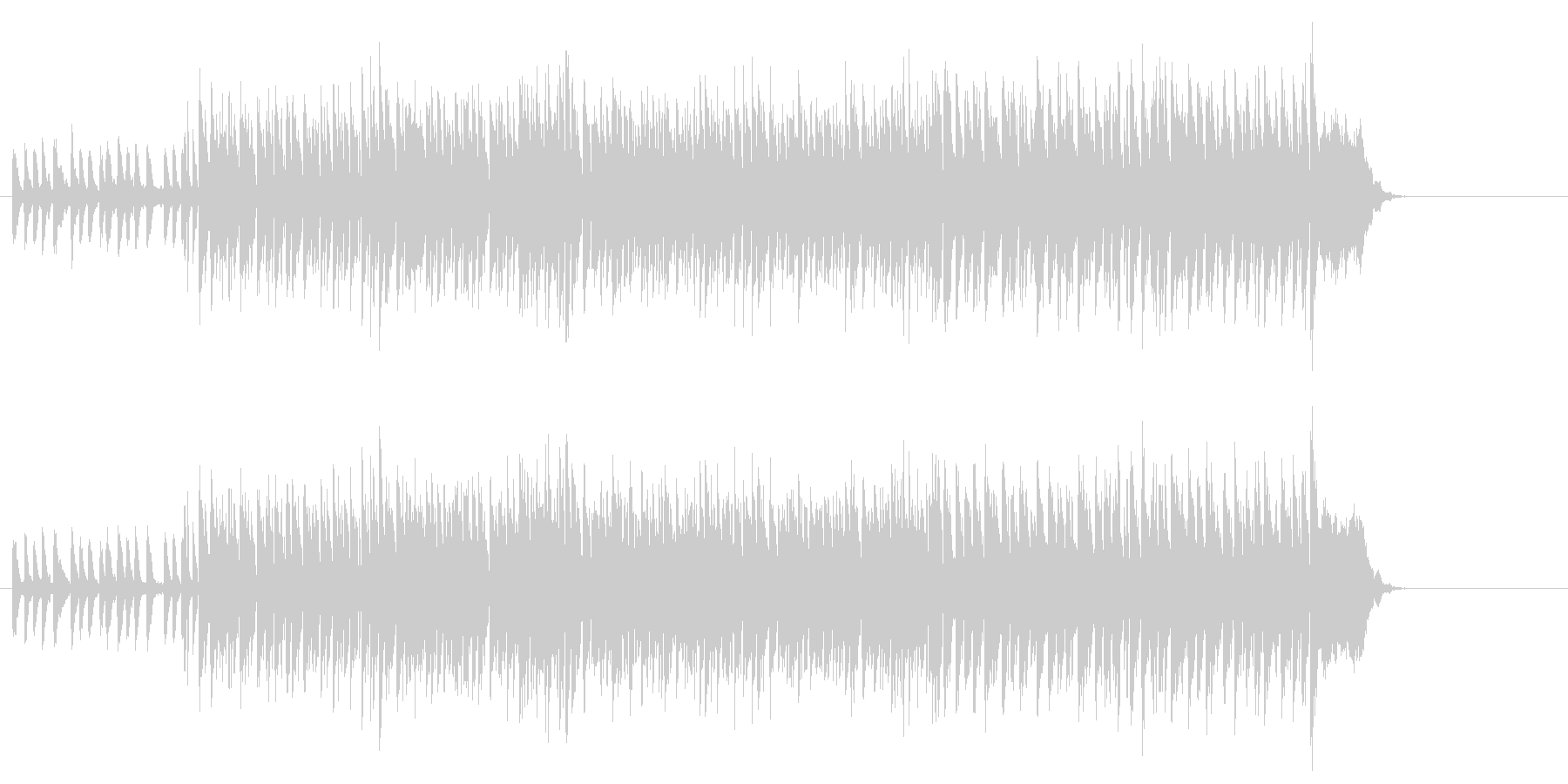ヒップホップ系エレクトリック・ポップスの未再生の波形