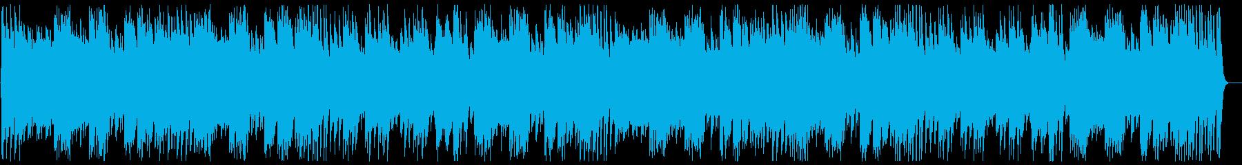 可愛く優しいハンドベルのオルゴールの曲の再生済みの波形