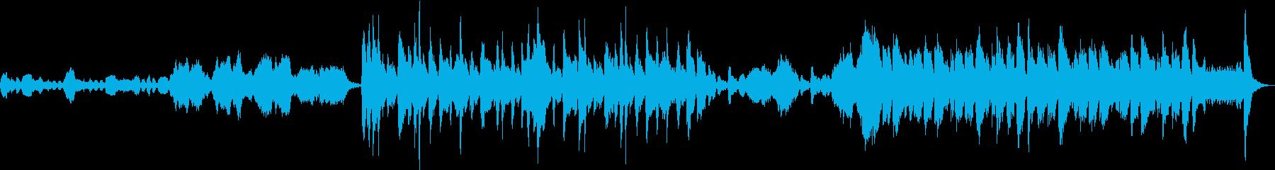 コミカルなハロウィン曲の再生済みの波形