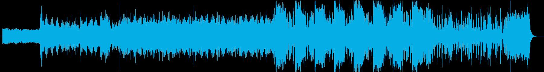 EDM系の緊迫した空気の曲の再生済みの波形