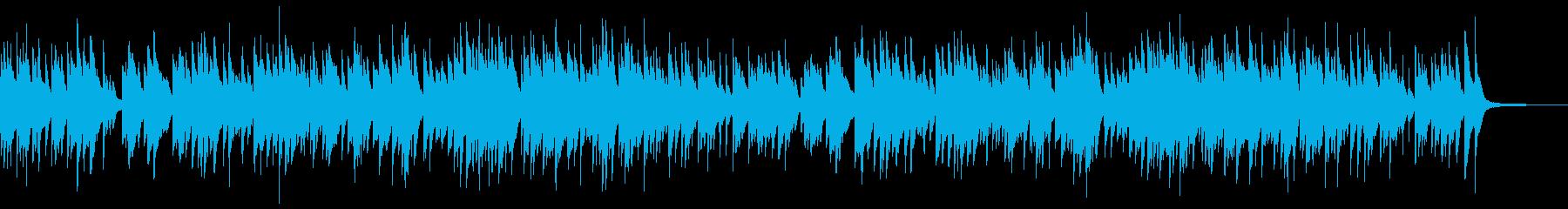 穏やかで感動的なピアノソロの再生済みの波形