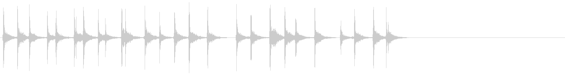 キーボードをカチャカチャと叩く音_1の未再生の波形