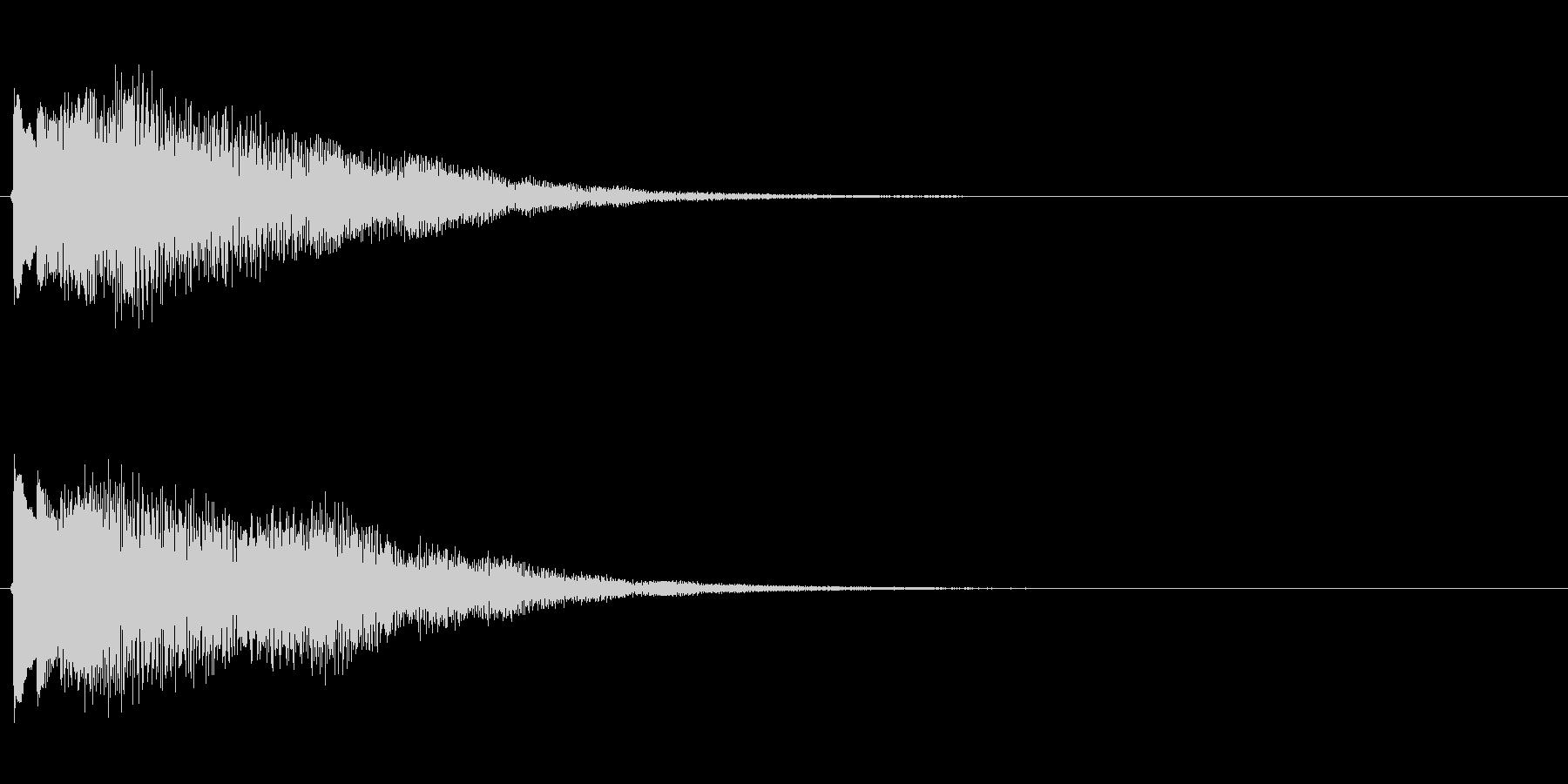キラキラしたベルの下降音4の未再生の波形