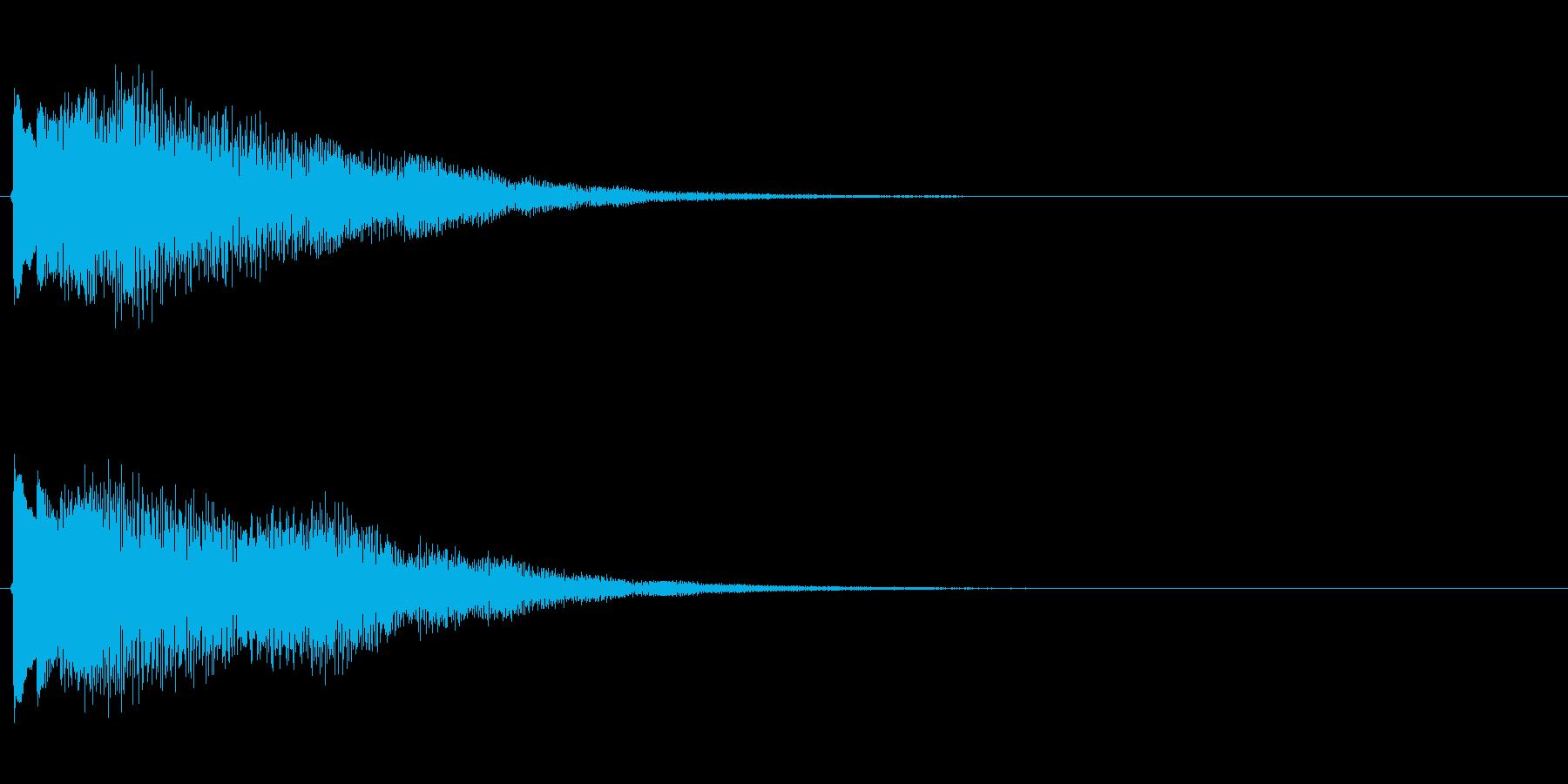 キラキラしたベルの下降音4の再生済みの波形