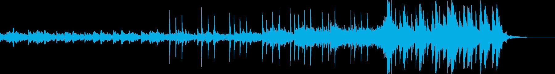 30秒動画用のオープニング音楽の再生済みの波形