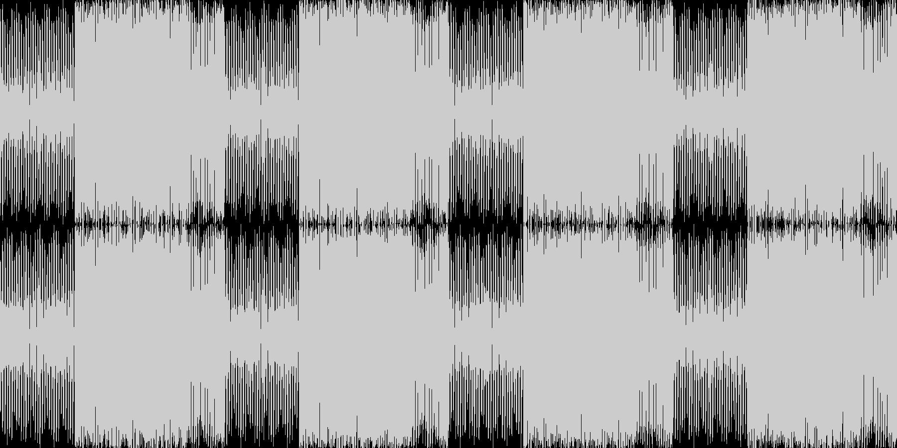 あやしい潜入映像のBGMの未再生の波形