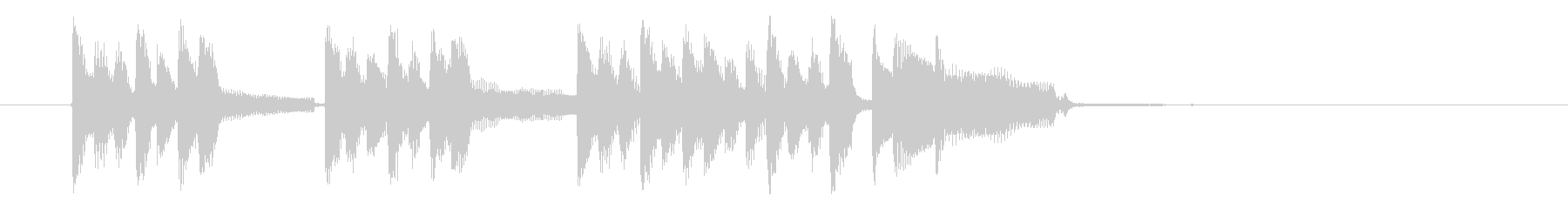 軽快でリズミカルなピアノジングルの未再生の波形