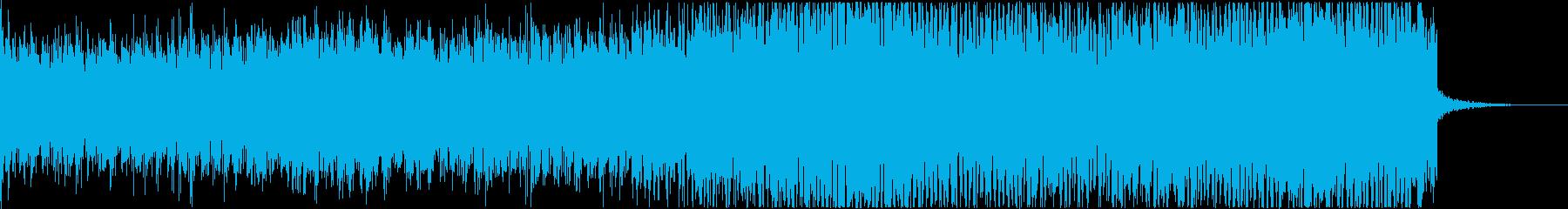不気味な雰囲気の再生済みの波形