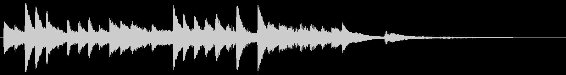 四季より「冬」モチーフのピアノジングルDの未再生の波形