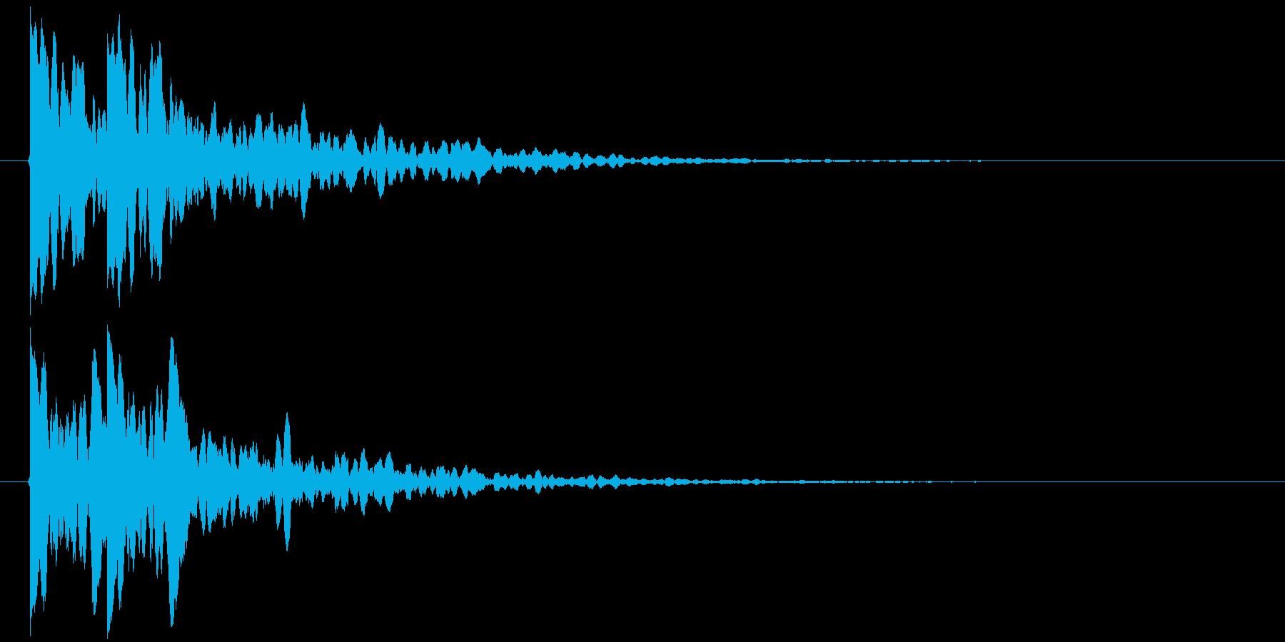 カカン!(拍子木)の再生済みの波形