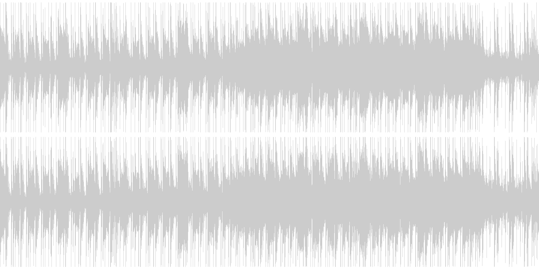 定番曲「スタイリッシュ」Aの未再生の波形
