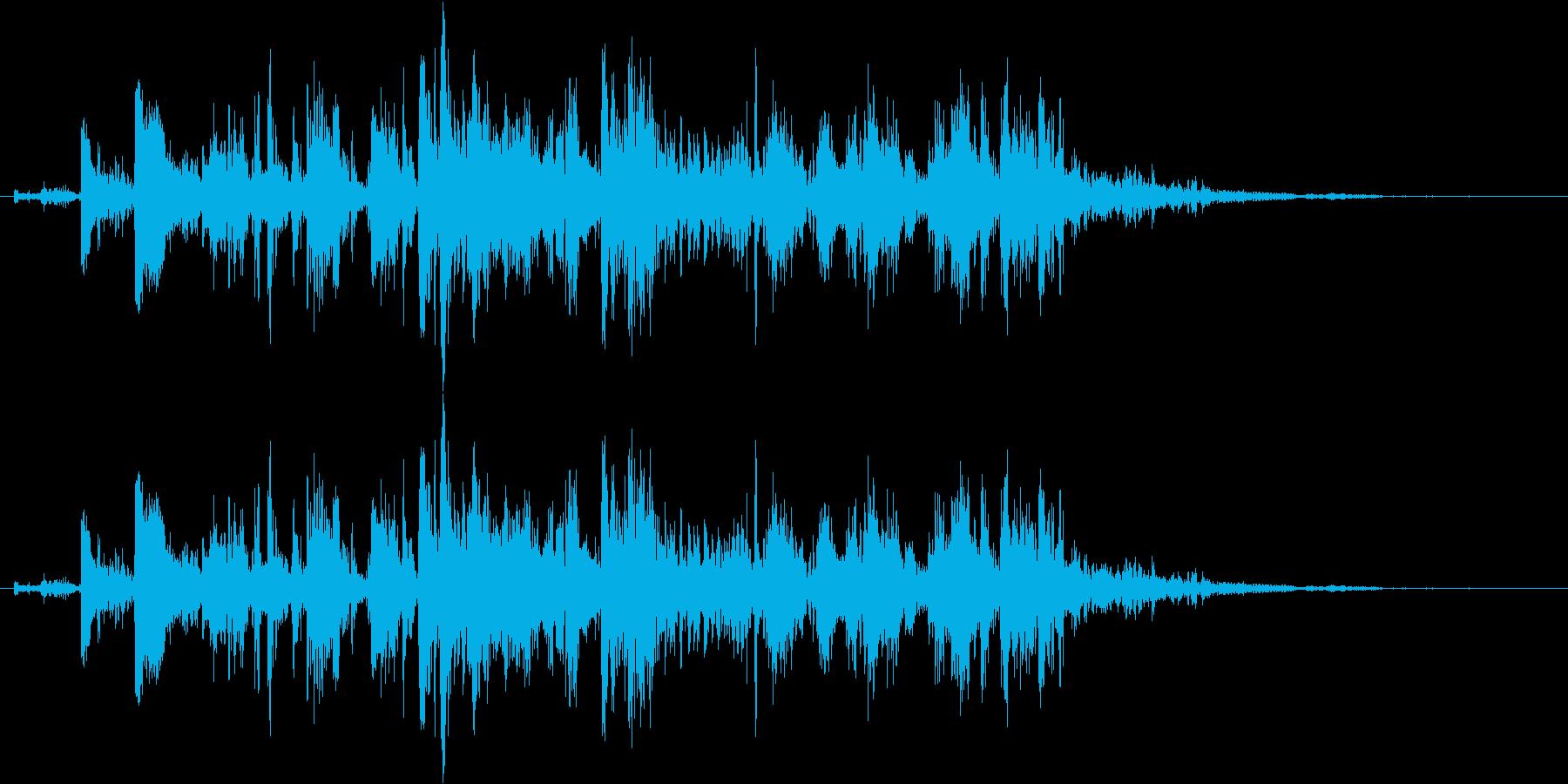 鎖を動かす音7【短い】の再生済みの波形