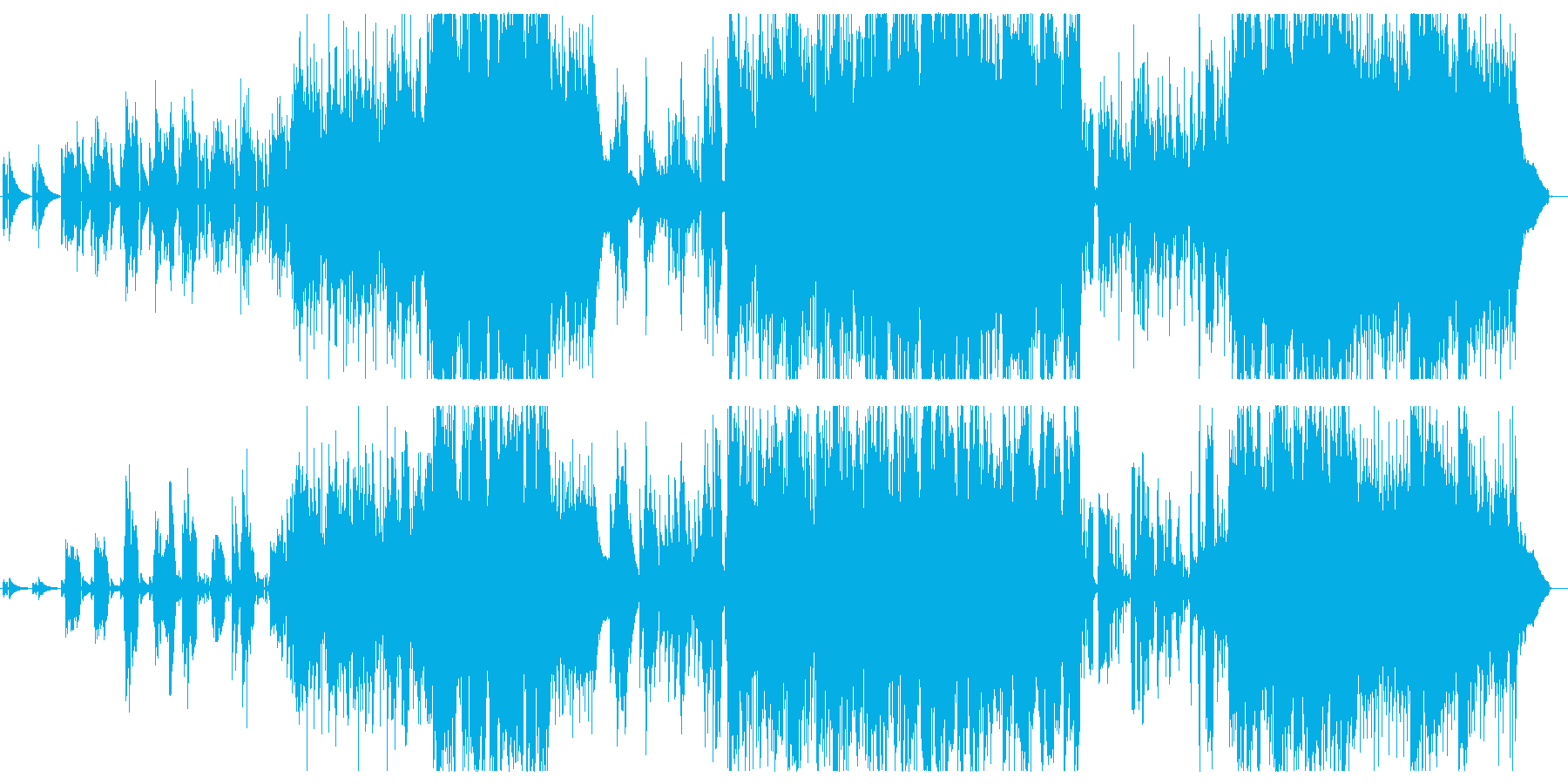 さわやかなアコースティックポップスの再生済みの波形