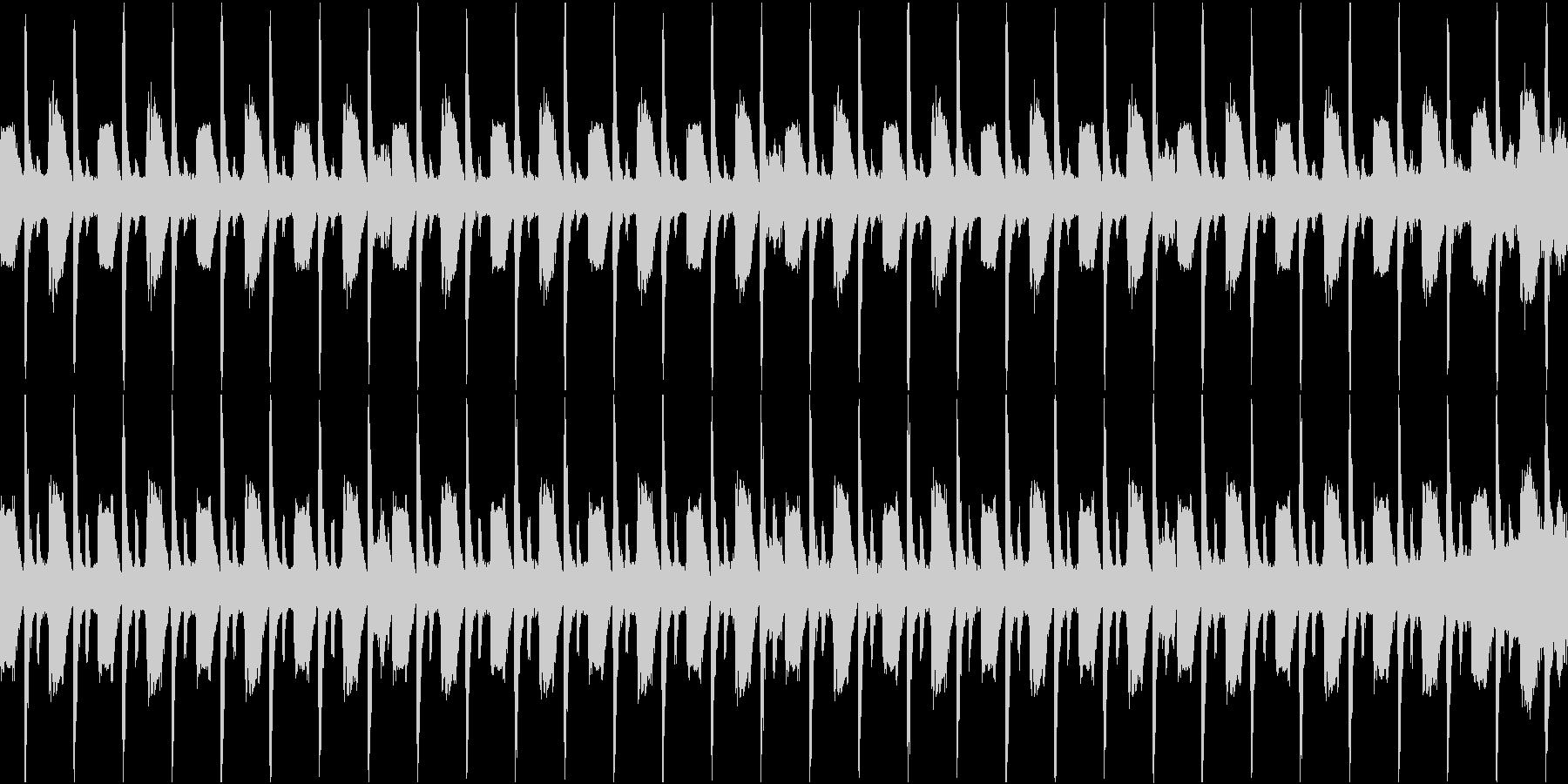 シンプルなリズムのダンスミュージックの未再生の波形