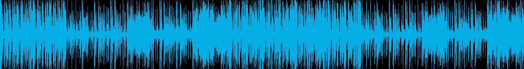 ファンキーで明るいブラスメインのポップスの再生済みの波形