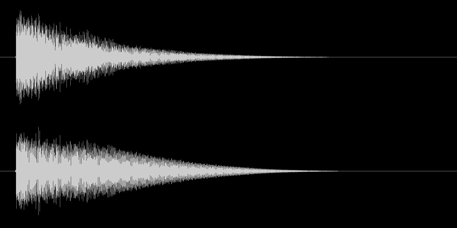 漫画インパクトバングの未再生の波形