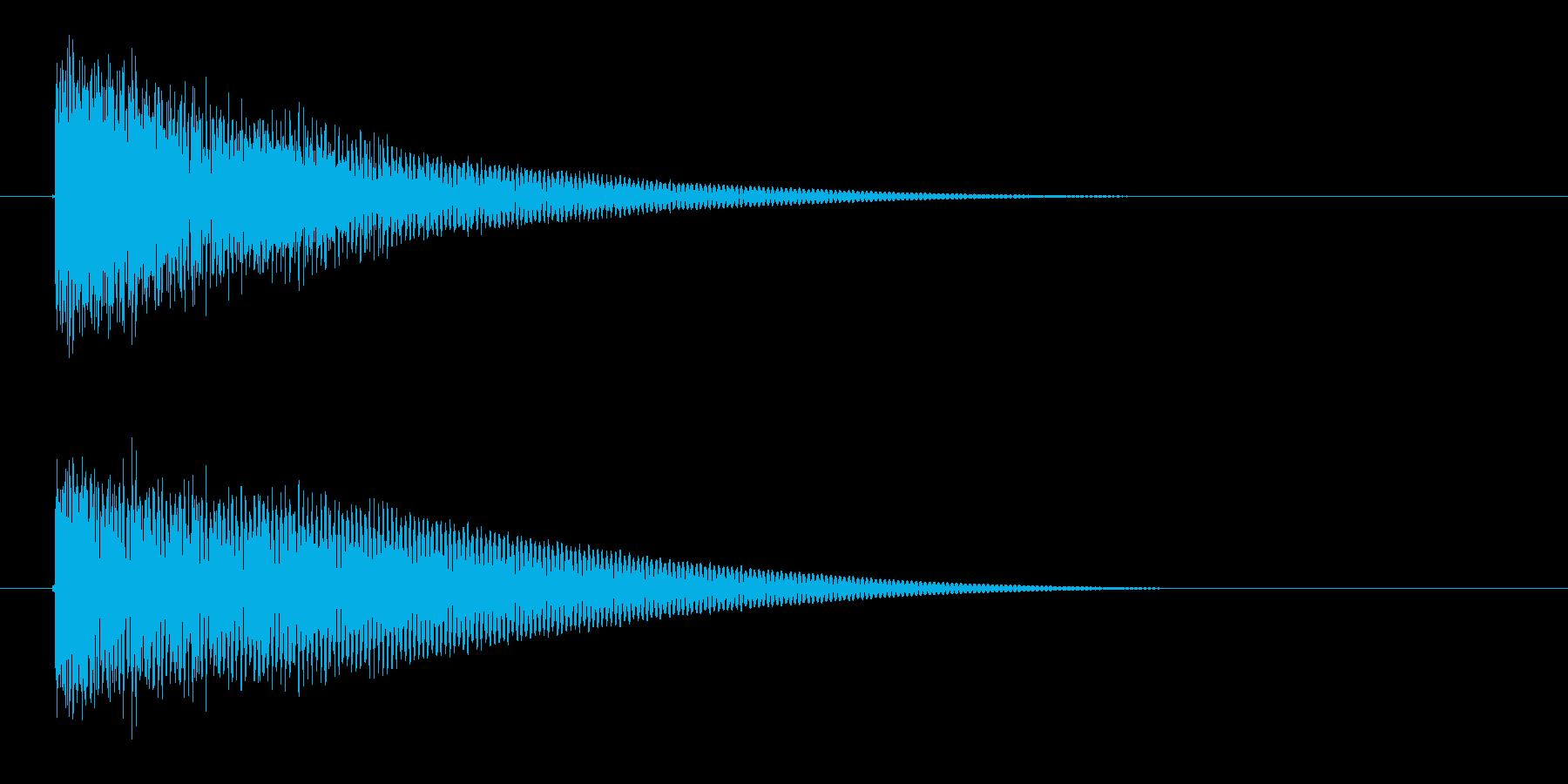 漫画インパクトバングの再生済みの波形
