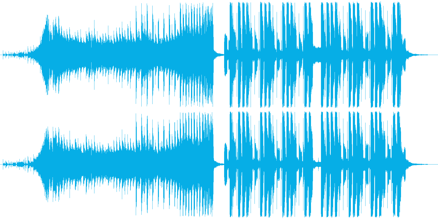 CMやイメージビデオに合うスタイリッシュの再生済みの波形