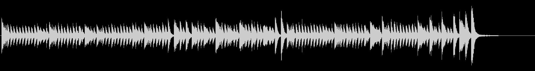 テトリス的ピアノソロの未再生の波形
