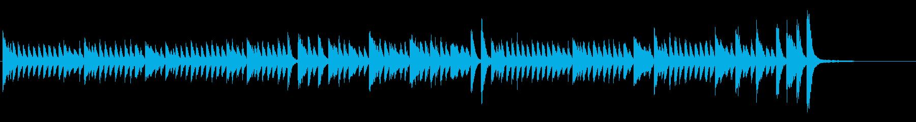 テトリス的ピアノソロの再生済みの波形