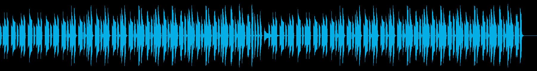 ピタゴラスイッチっぽいののんきなBGMの再生済みの波形