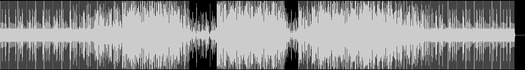 ピアノの旋律が印象的なテクノサウンドの未再生の波形