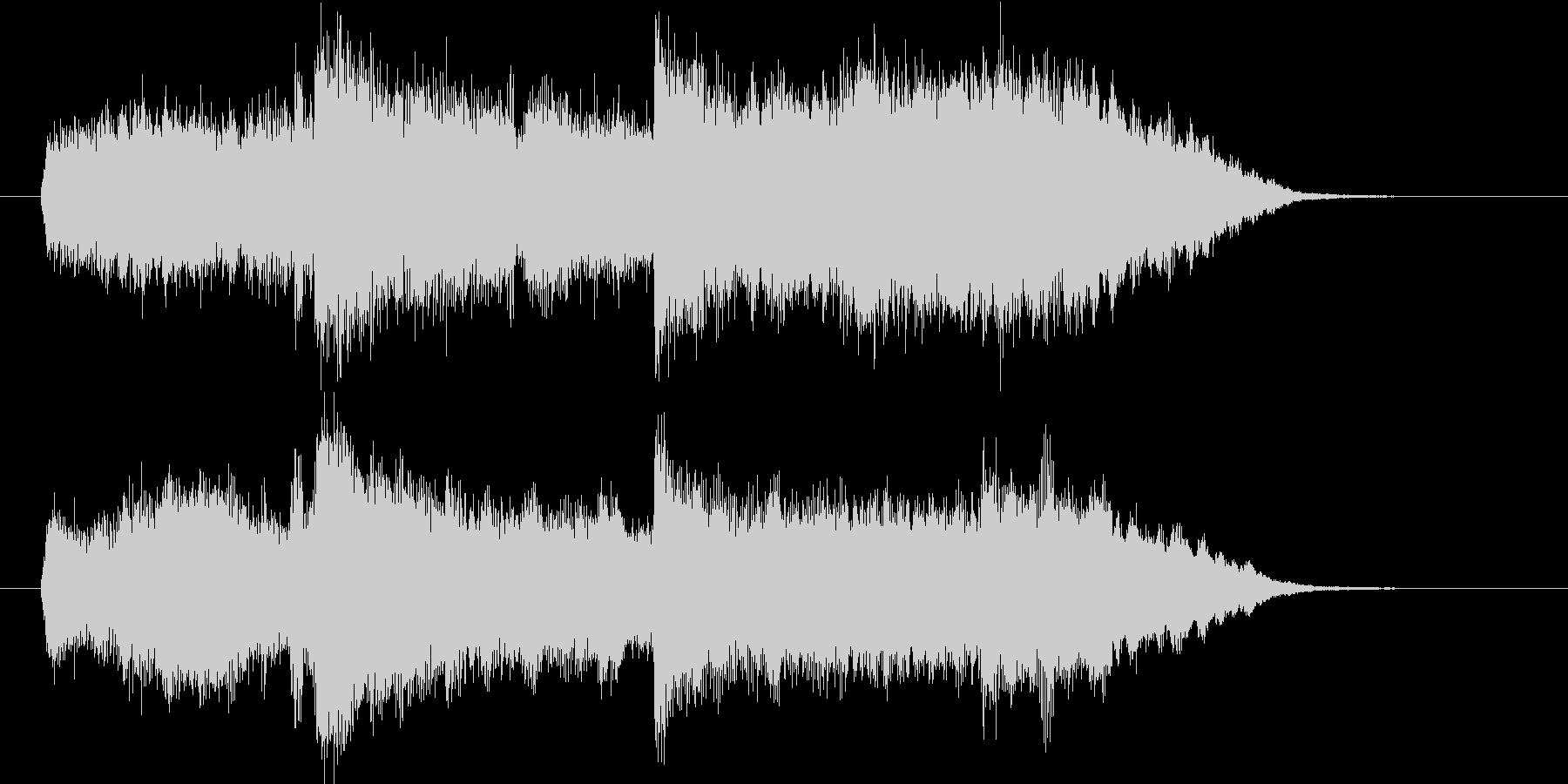 シンセによるシンプルなコード進行の楽曲の未再生の波形
