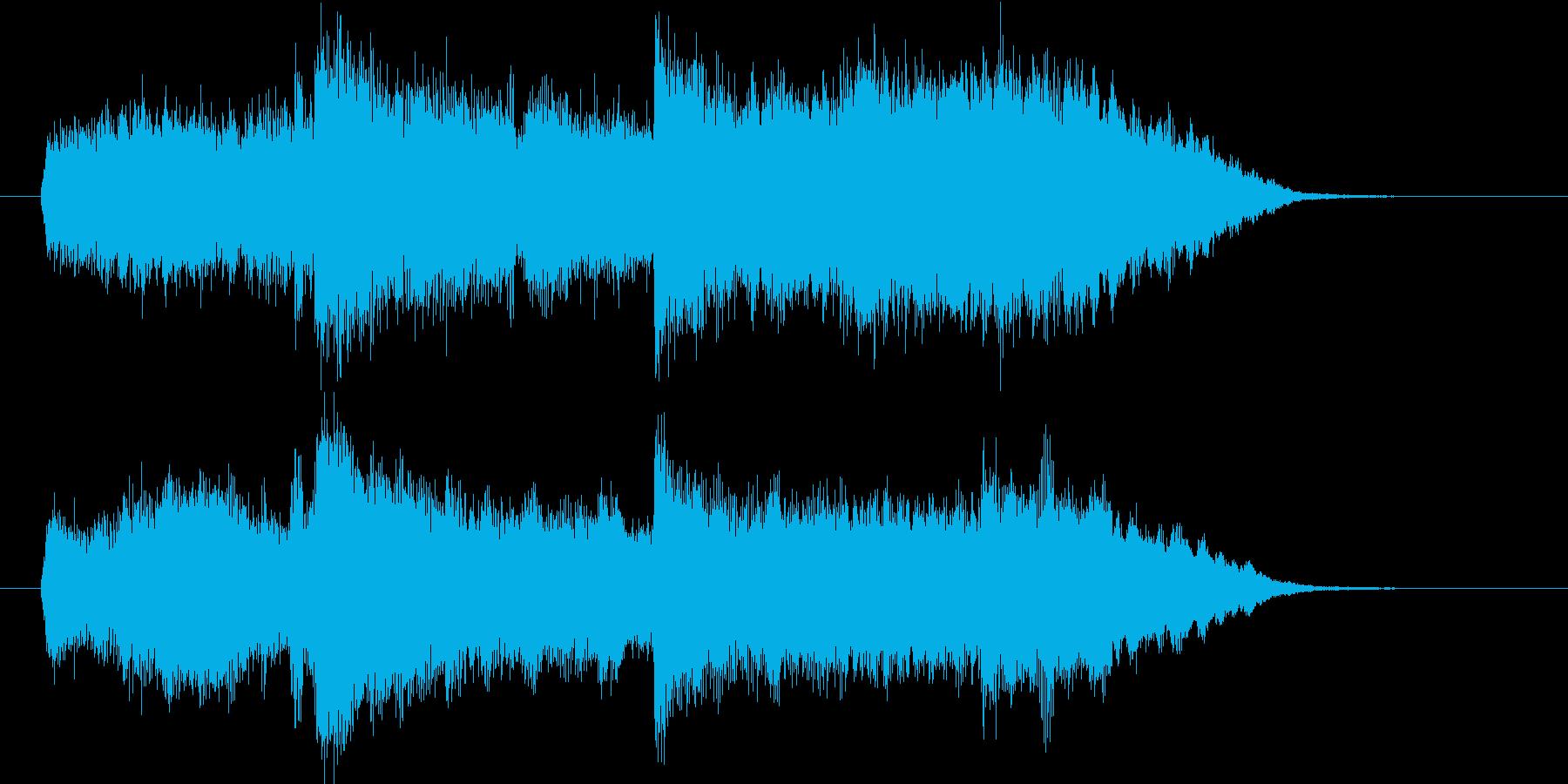 シンセによるシンプルなコード進行の楽曲の再生済みの波形