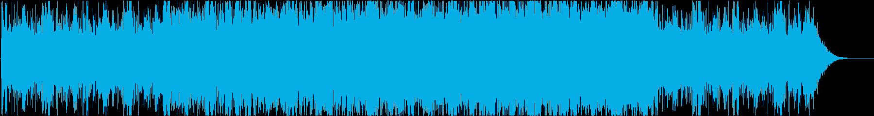 ダークでシリアス感のあるピアノ主体の劇伴の再生済みの波形