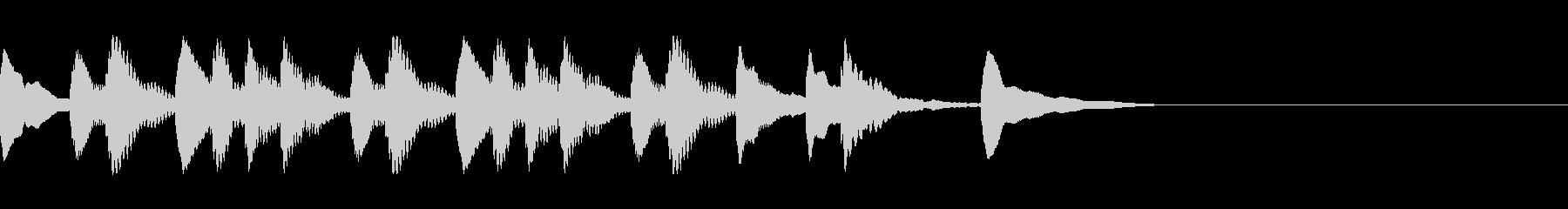 マリンバジングル2 ほのぼのの未再生の波形