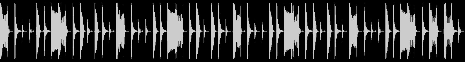 シンプルなラップビートの未再生の波形