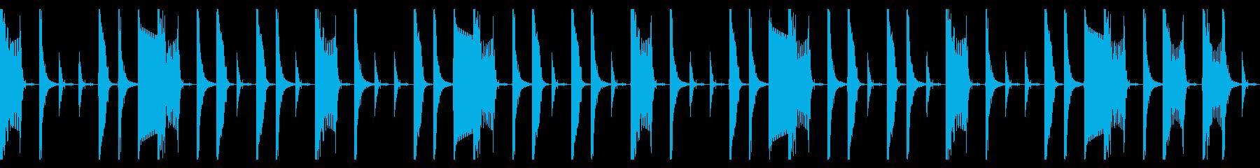 シンプルなラップビートの再生済みの波形