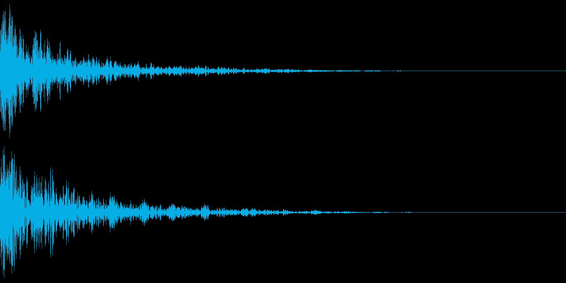 ドーン-53-2(インパクト音)の再生済みの波形