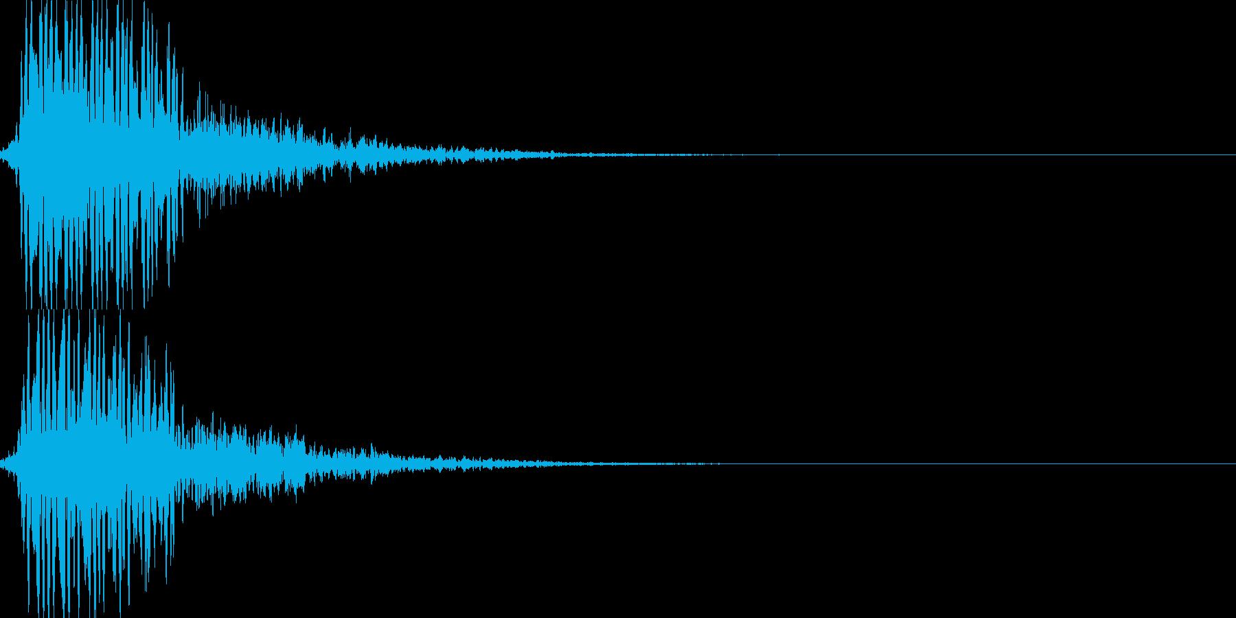 レーザー攻撃03の再生済みの波形