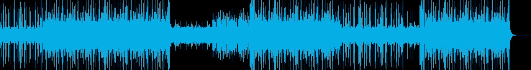 おしゃれで迫力のあるメロディーの再生済みの波形