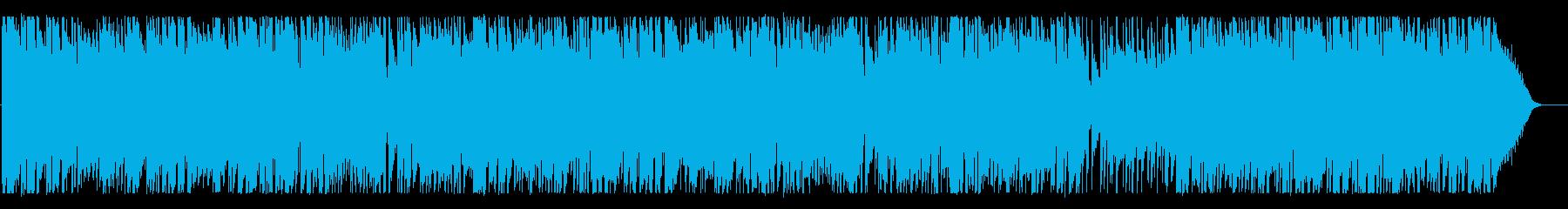 ドラマチックで優しいメロディーのBGMの再生済みの波形