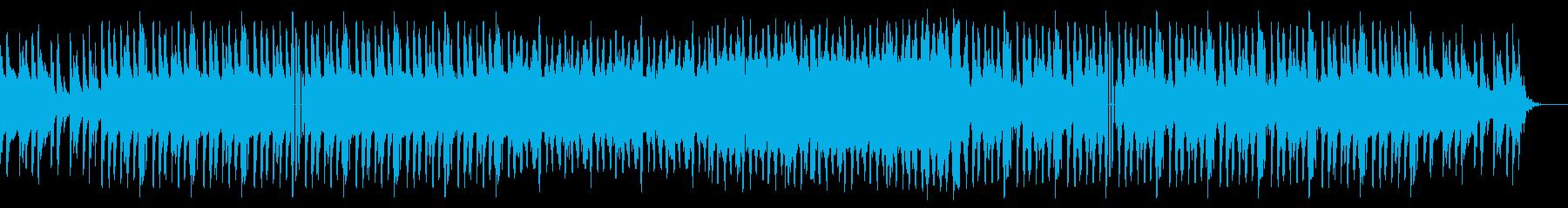 優しいピアノのゆったりビートの再生済みの波形
