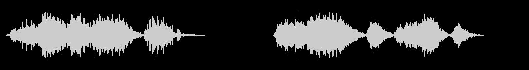 ドリル、インパクト、ランニングx2の未再生の波形