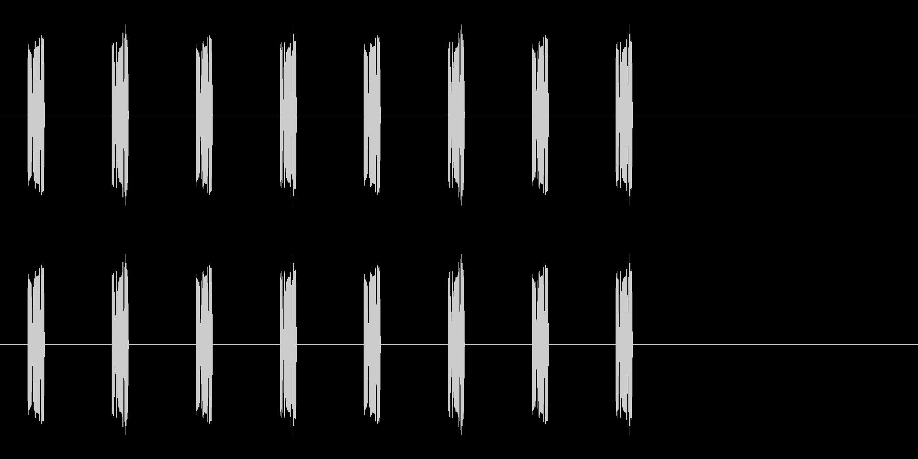 コミカルな足音 B-8-3の未再生の波形