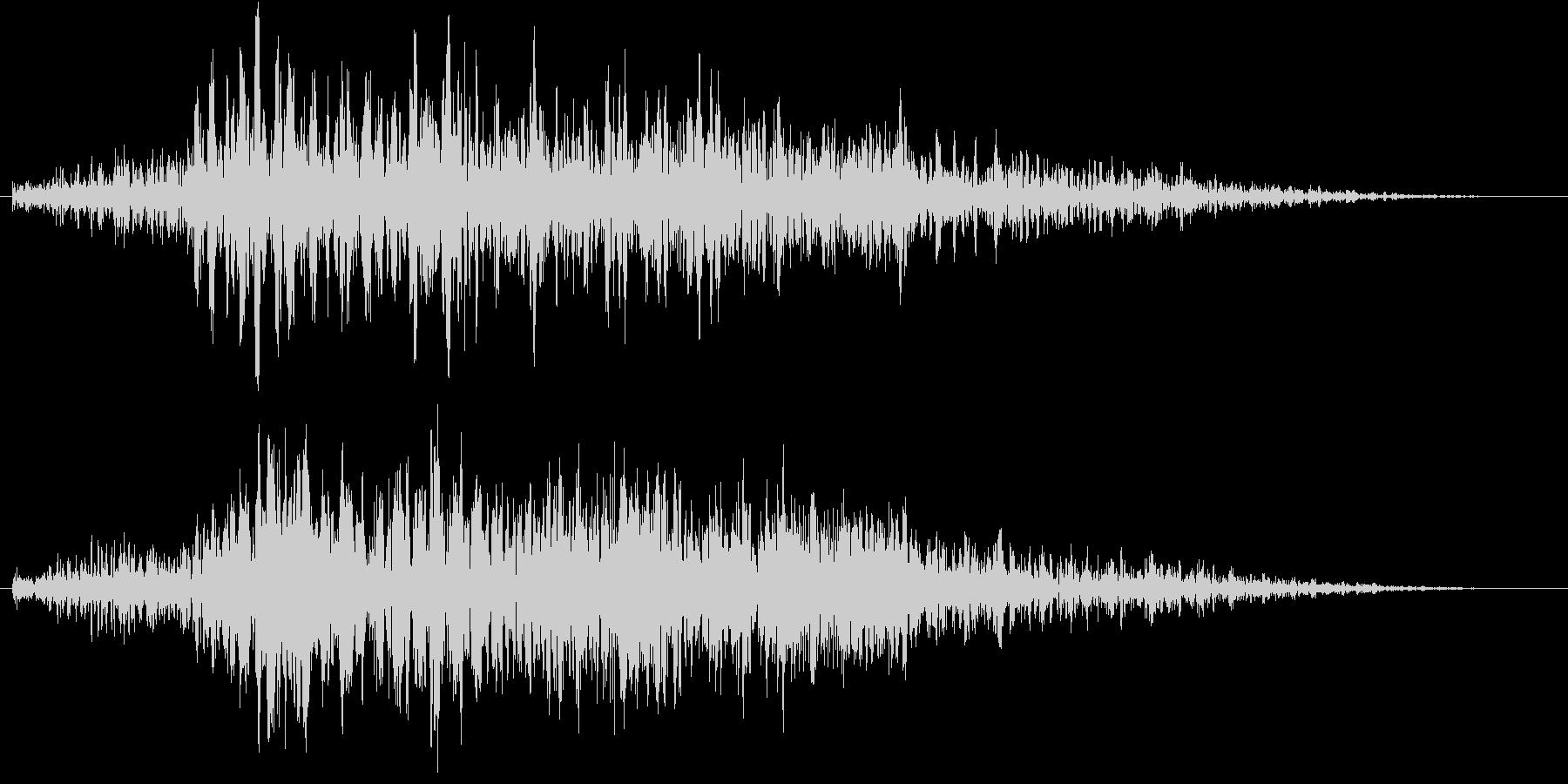 しゅるるる (消失、退却の効果音)の未再生の波形